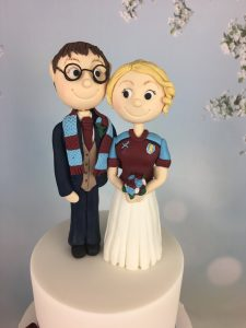 bride and groom wedding topper