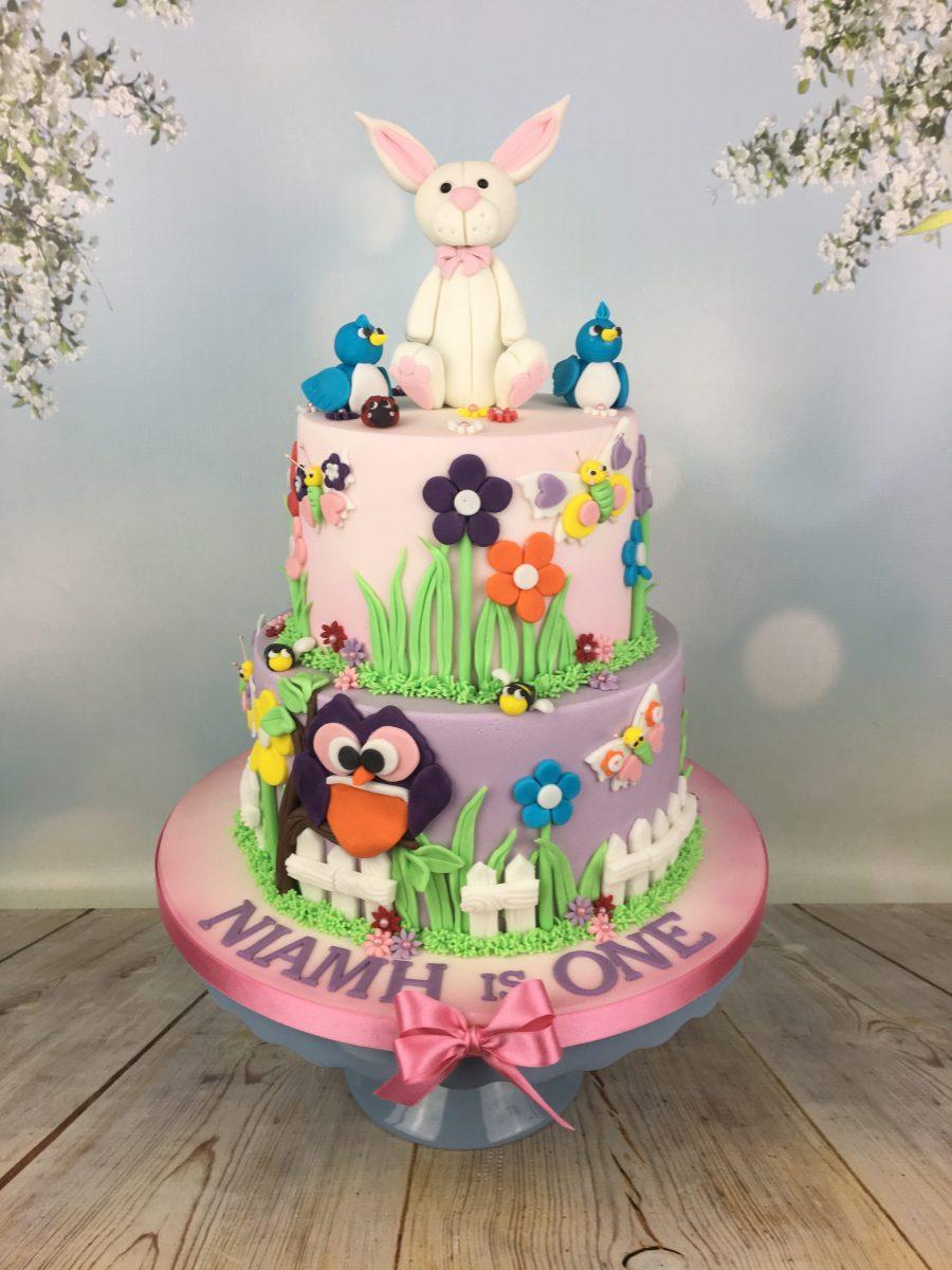 1st Birthday Cake Bunny Topper