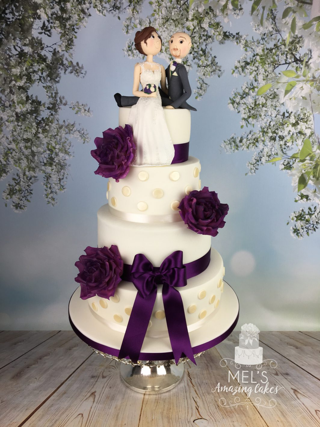 Sugar wedding topper