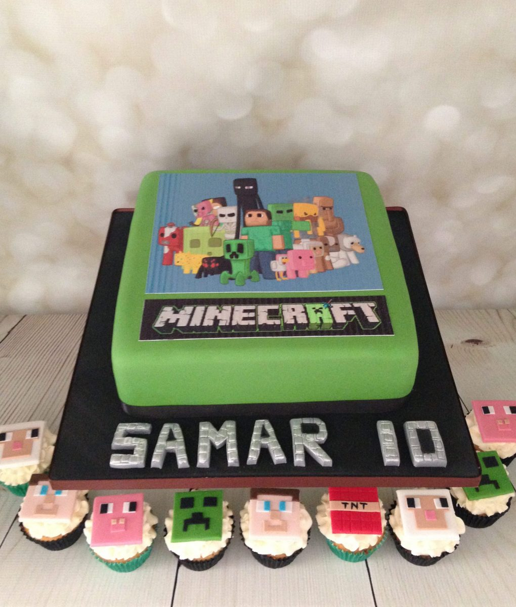 Minecraft Cake And Cupcakes Mel S Amazing Cakes