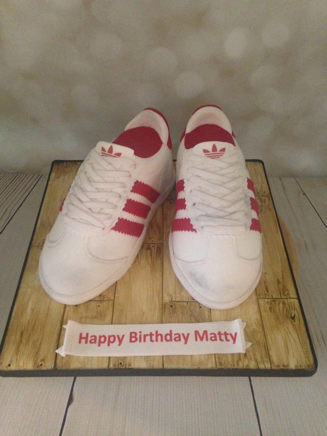 Adidas Trainers Birthday Cake Shoes