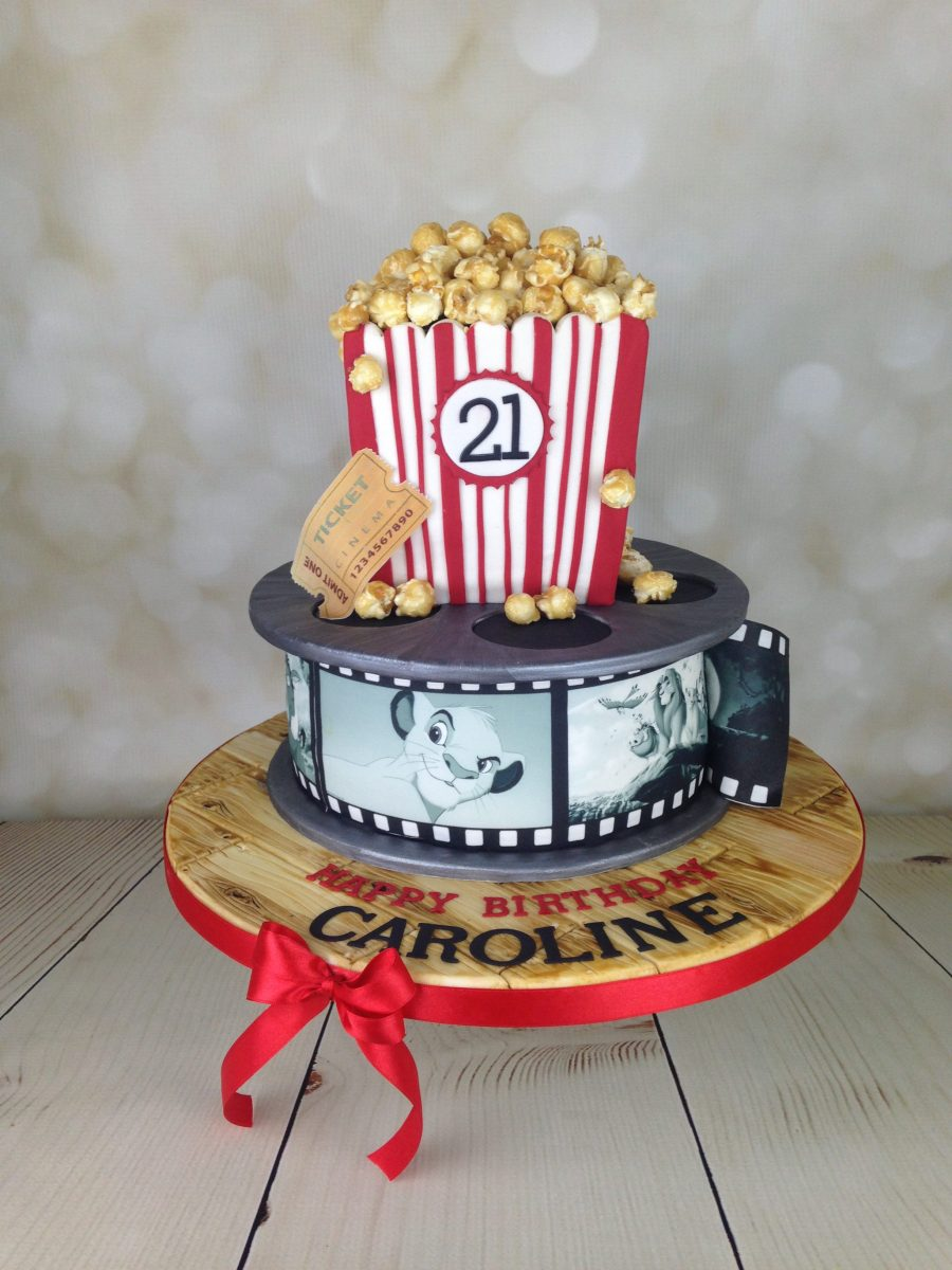 Film Reel And Popcorn 21st Birthday Cake Mel S Amazing Cakes