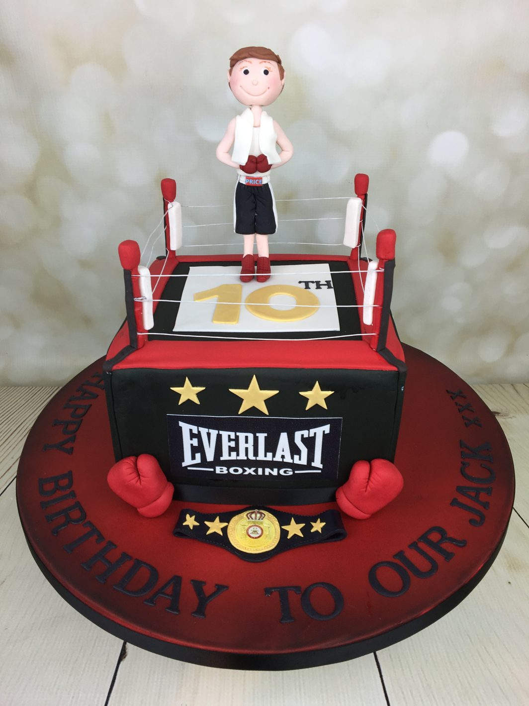 Boxing Ring Birthday Cake