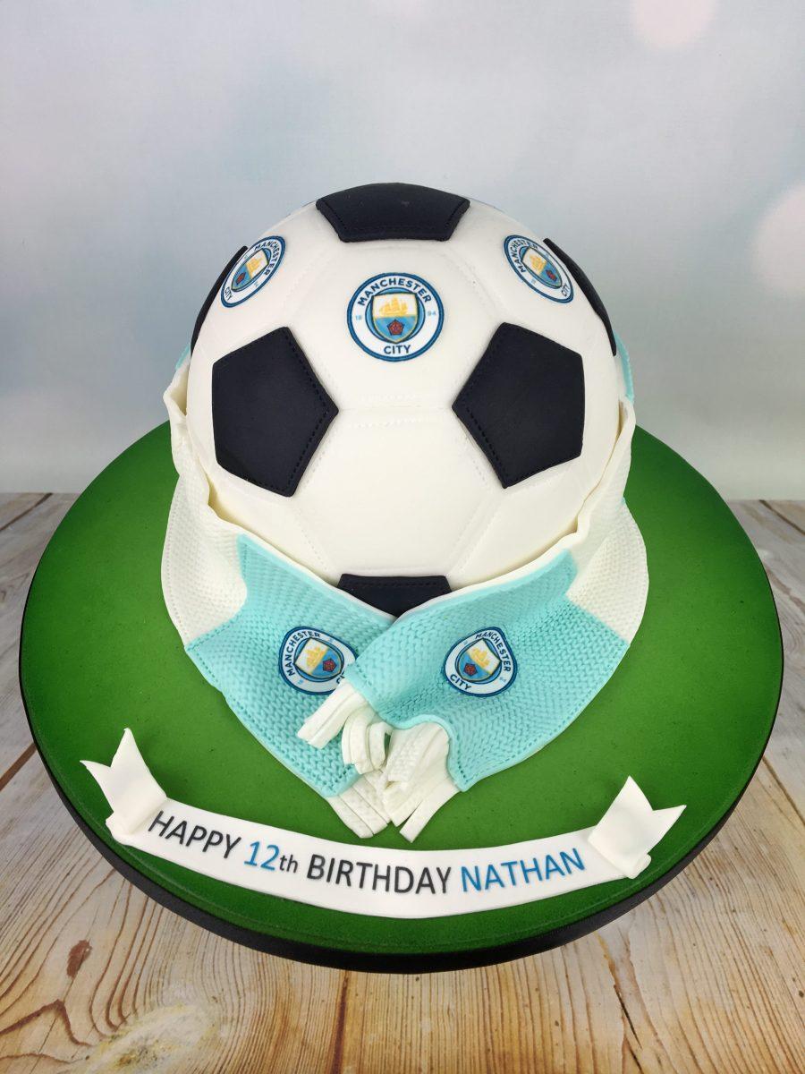 Manchester City Football Birthday Cake Mel S Amazing Cakes