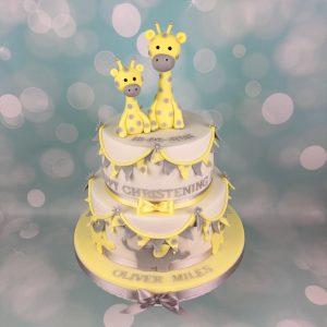 2 tier Christening cake
