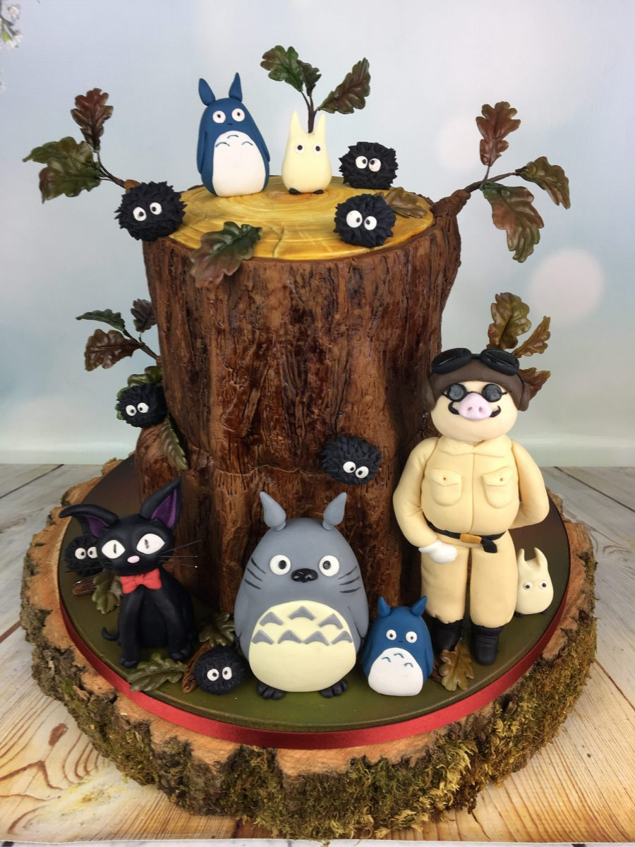 anime themed wedding cakes totoro and friends wedding cake mel s amazing cakes 10778