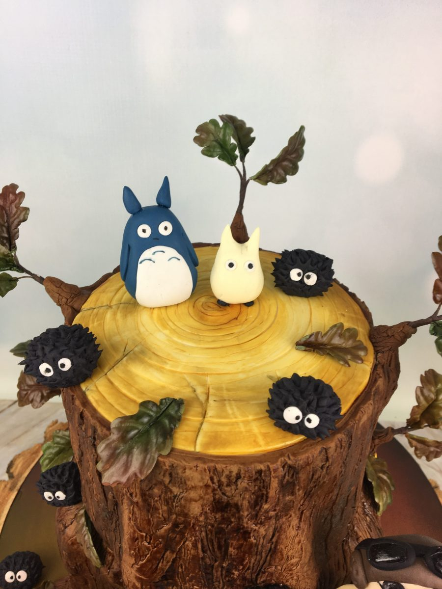 Cool Totoro And Friends Wedding Cake Mels Amazing Cakes Funny Birthday Cards Online Aeocydamsfinfo