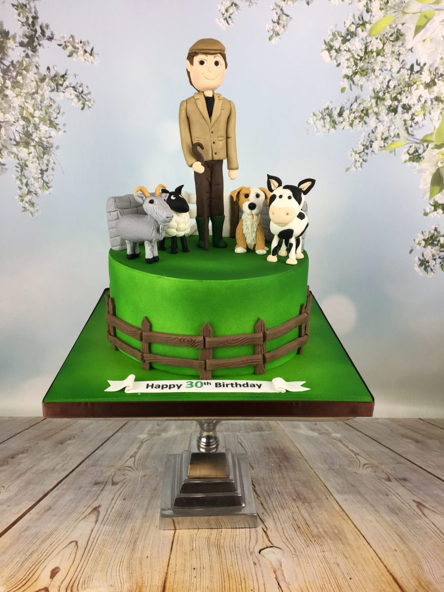 Incredible Farmer And His Animals 30Th Birthday Cake Mels Amazing Cakes Funny Birthday Cards Online Unhofree Goldxyz