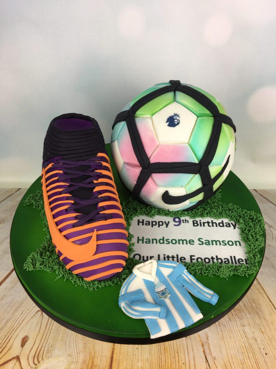 Football And Boot Birthday Cake Mel S Amazing Cakes