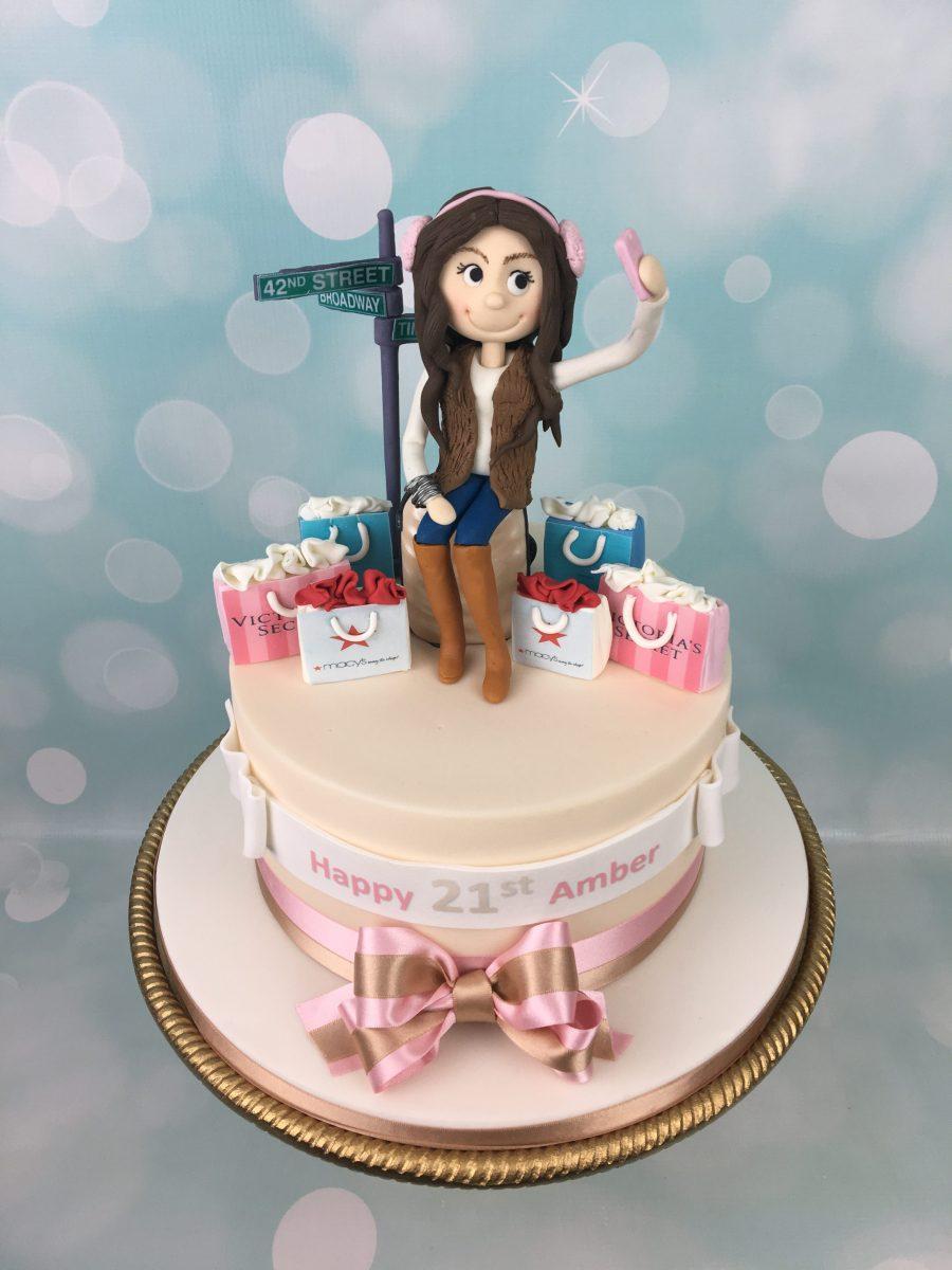 Selfie In New York Birthday Cake Mels Amazing Cakes
