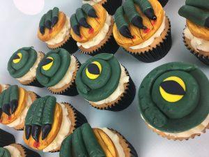 Godzilla cupcakes