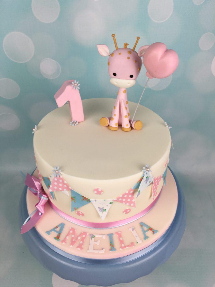 Baby Giraffe 1st Birthday Cake Mel S Amazing Cakes