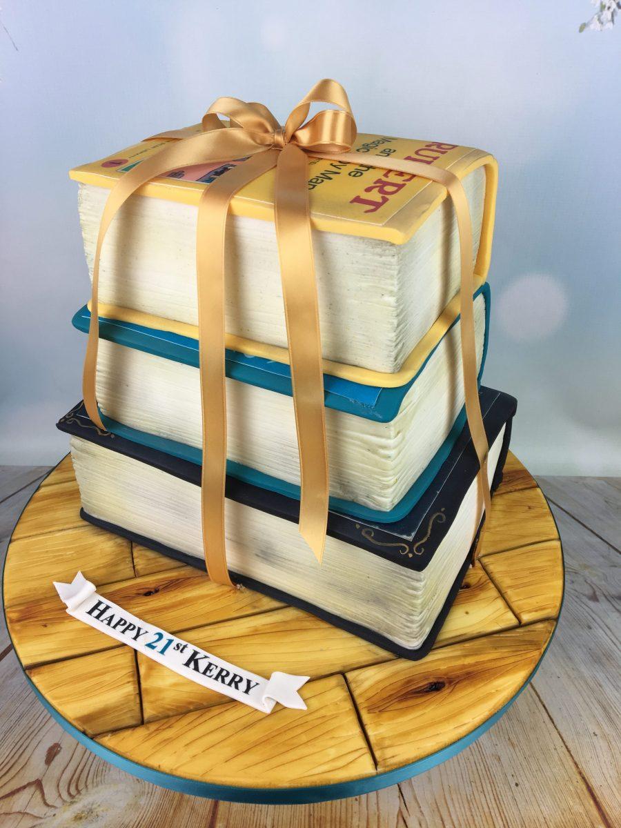 Stack Of Books Birthday Cake Mel S Amazing Cakes