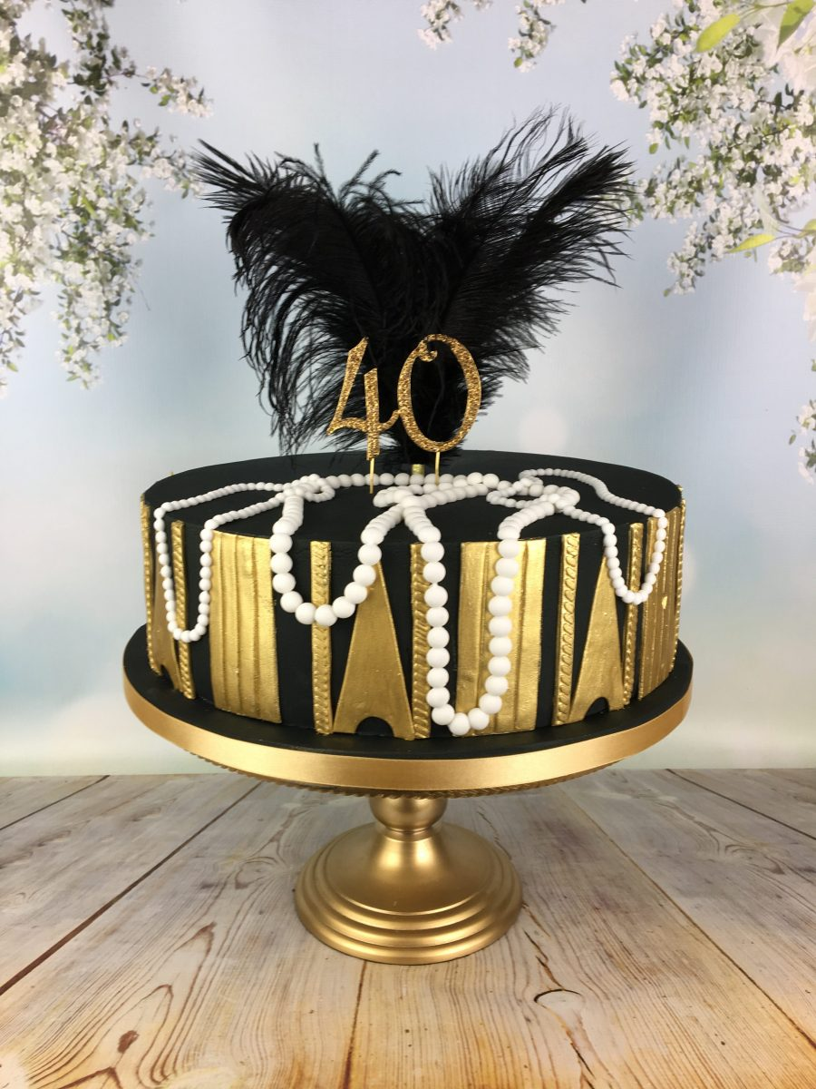 Great gatsby 40th birthday cake mel 39 s amazing cakes for 40th birthday cake decoration