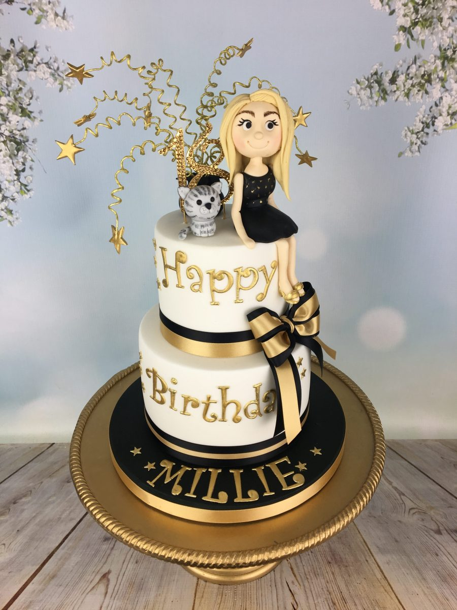 Gold And Black Birthday Cake Mels Amazing Cakes