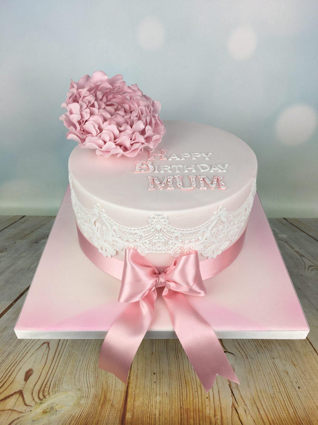 lace birthday cake