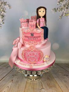 Sugar figure birthday cake
