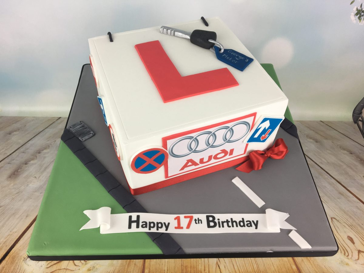 Pleasing Learner Driver Birthday Cake Mels Amazing Cakes Personalised Birthday Cards Veneteletsinfo