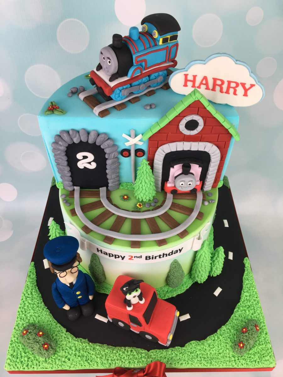Thomas And Postman Pat 2nd Birthday Cake Mels Amazing Cakes