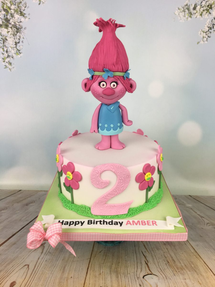Enjoyable Trolls 2Nd Birthday Cake Mels Amazing Cakes Funny Birthday Cards Online Inifodamsfinfo