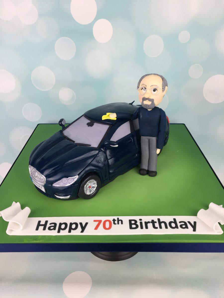 Astonishing Jaguar Car 70Th Birthday Cake Mels Amazing Cakes Funny Birthday Cards Online Overcheapnameinfo