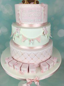 baby blocks christening cake