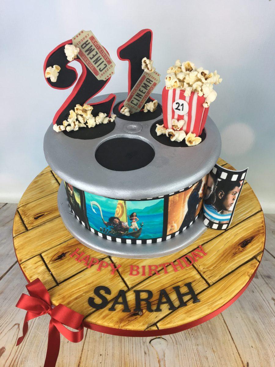 Enjoyable Film Reel 21St Birthday Cake Mels Amazing Cakes Funny Birthday Cards Online Alyptdamsfinfo