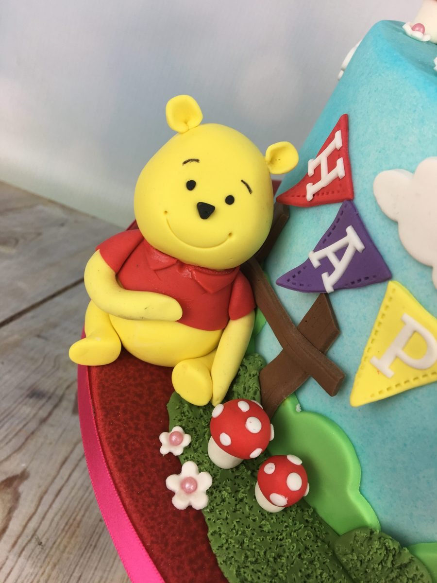 Magnificent Winnie The Pooh 1St Birthday Cake Mels Amazing Cakes Funny Birthday Cards Online Alyptdamsfinfo