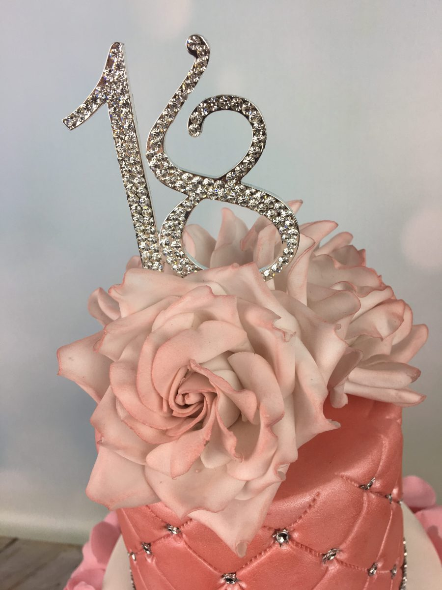 Tremendous Ruffles And Roses 18Th Birthday Cake Mels Amazing Cakes Personalised Birthday Cards Veneteletsinfo