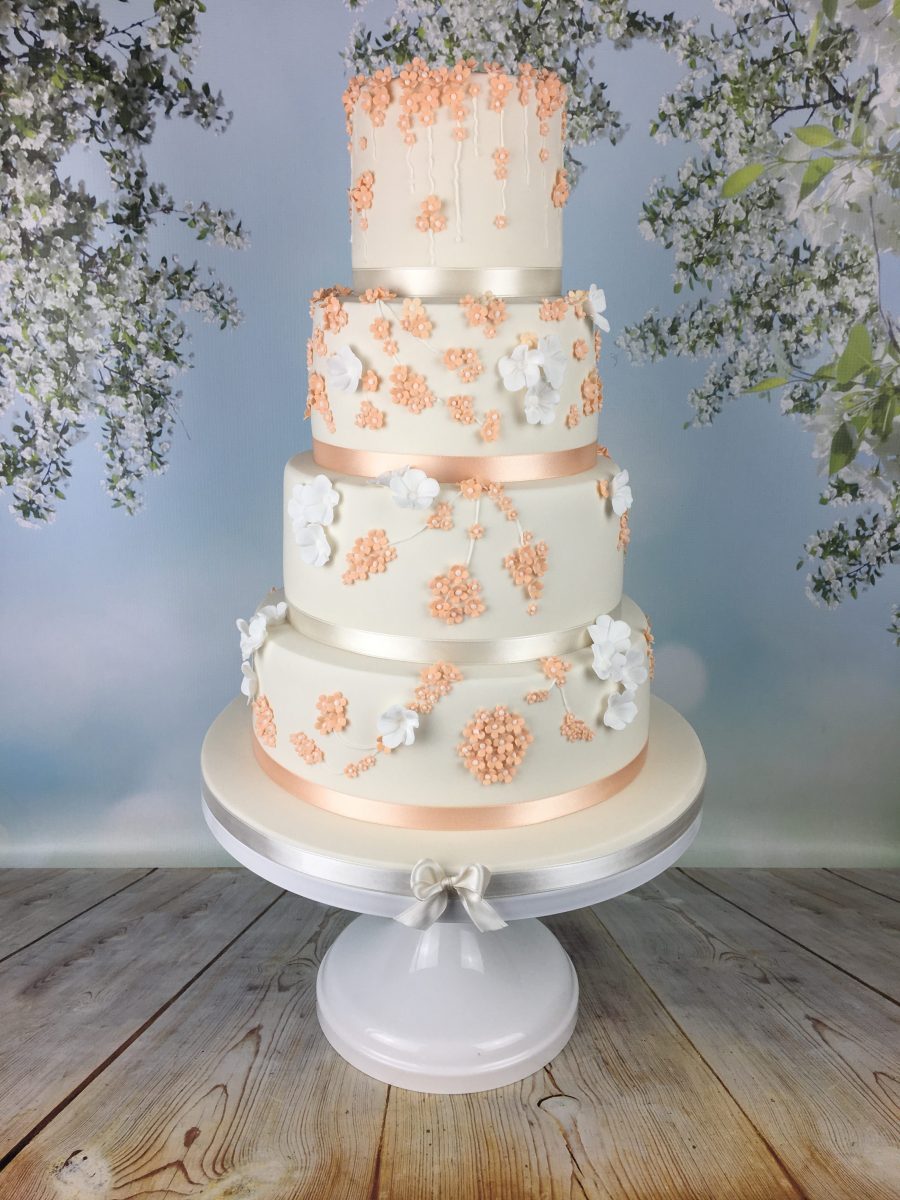 Peach Blossom Wedding Cake Mel S Amazing Cakes