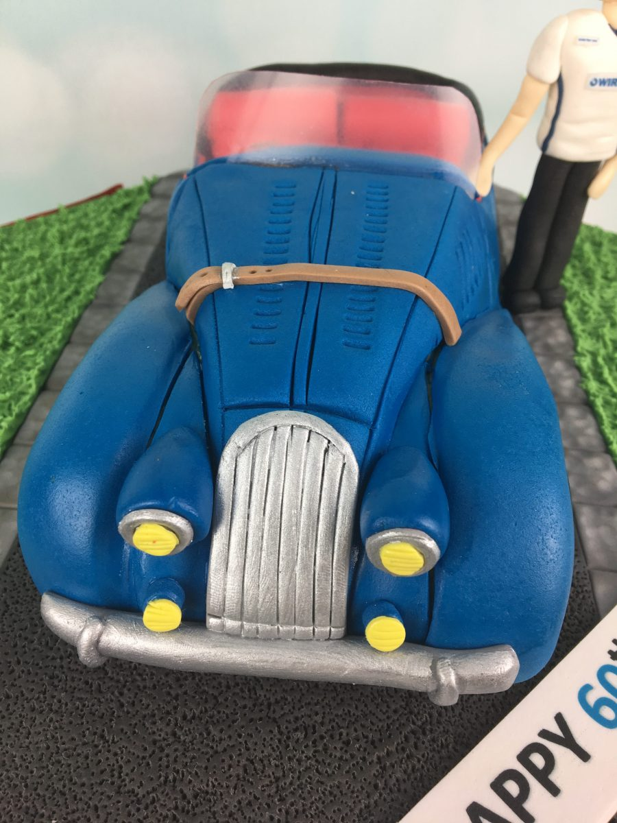 Morgan Car 60th Birthday cake Mels Amazing Cakes