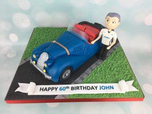3d car birthday cake