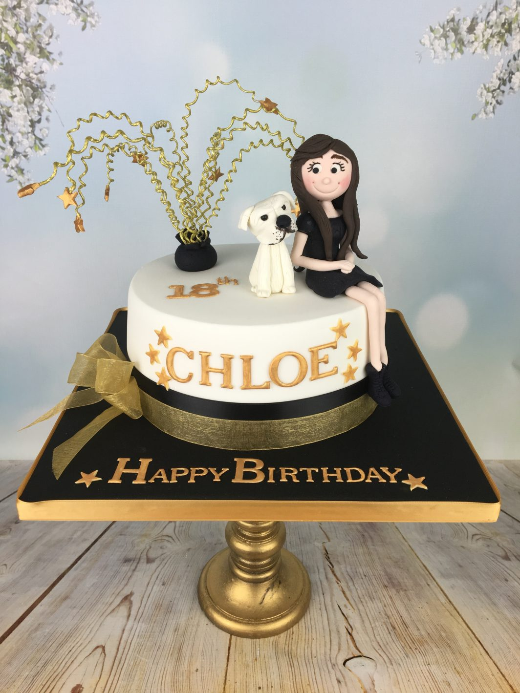 sugar figure birthday cake