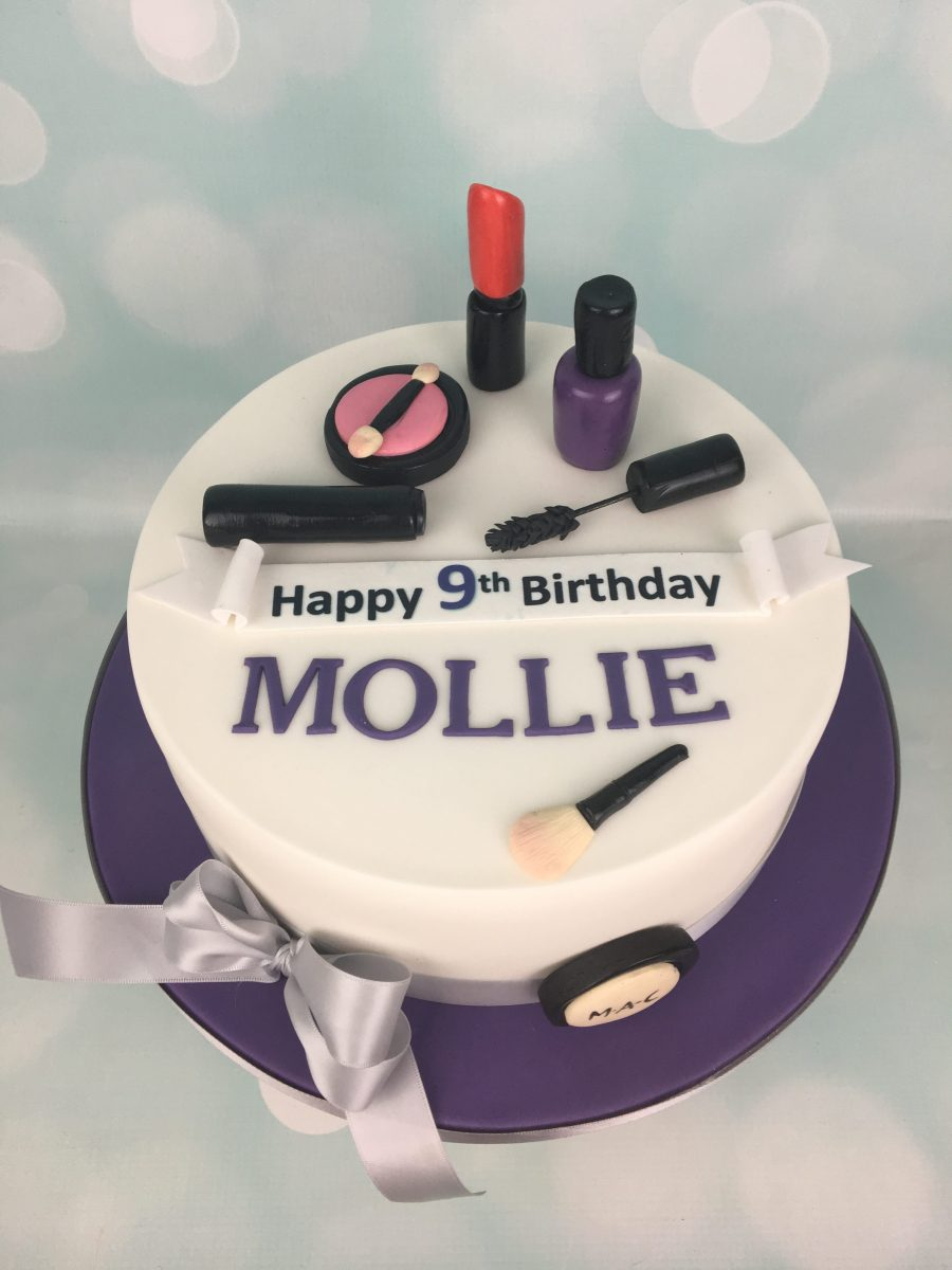 Wondrous Makeup Birthday Cake Mels Amazing Cakes Funny Birthday Cards Online Eattedamsfinfo