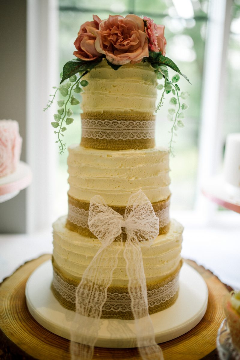 Rustic buttercream wedding cake - Mel\'s Amazing Cakes