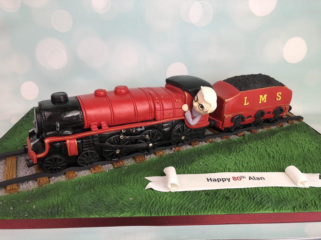 Train Cake & Carriage