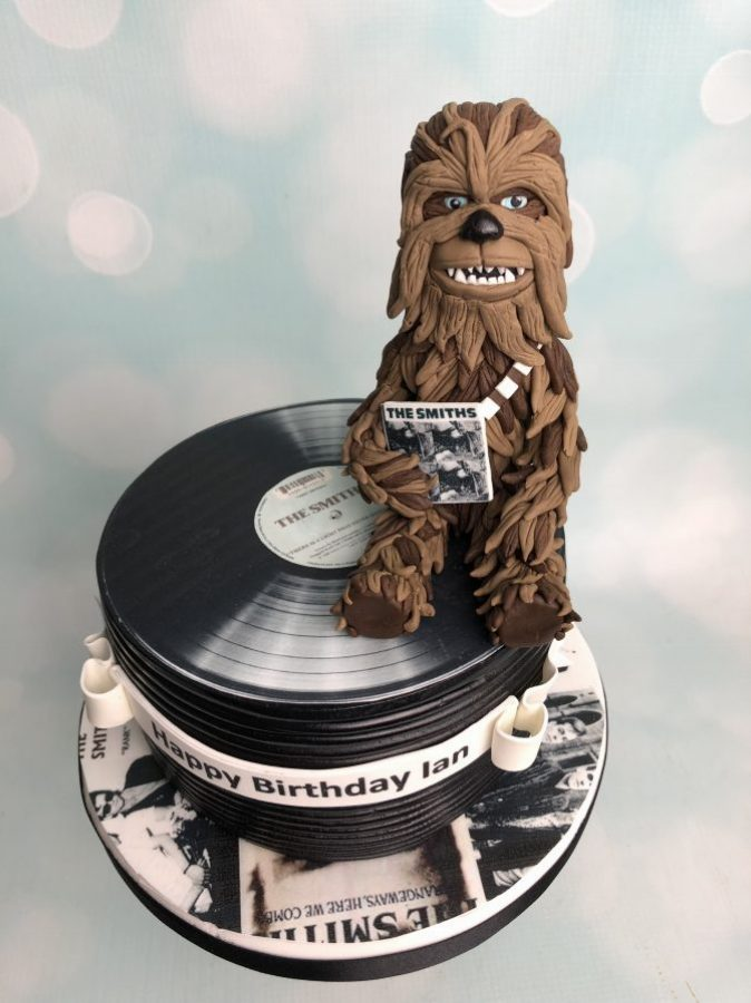 Star Wars Cake With Stack Of Vinyl Singles Mels Amazing Cakes