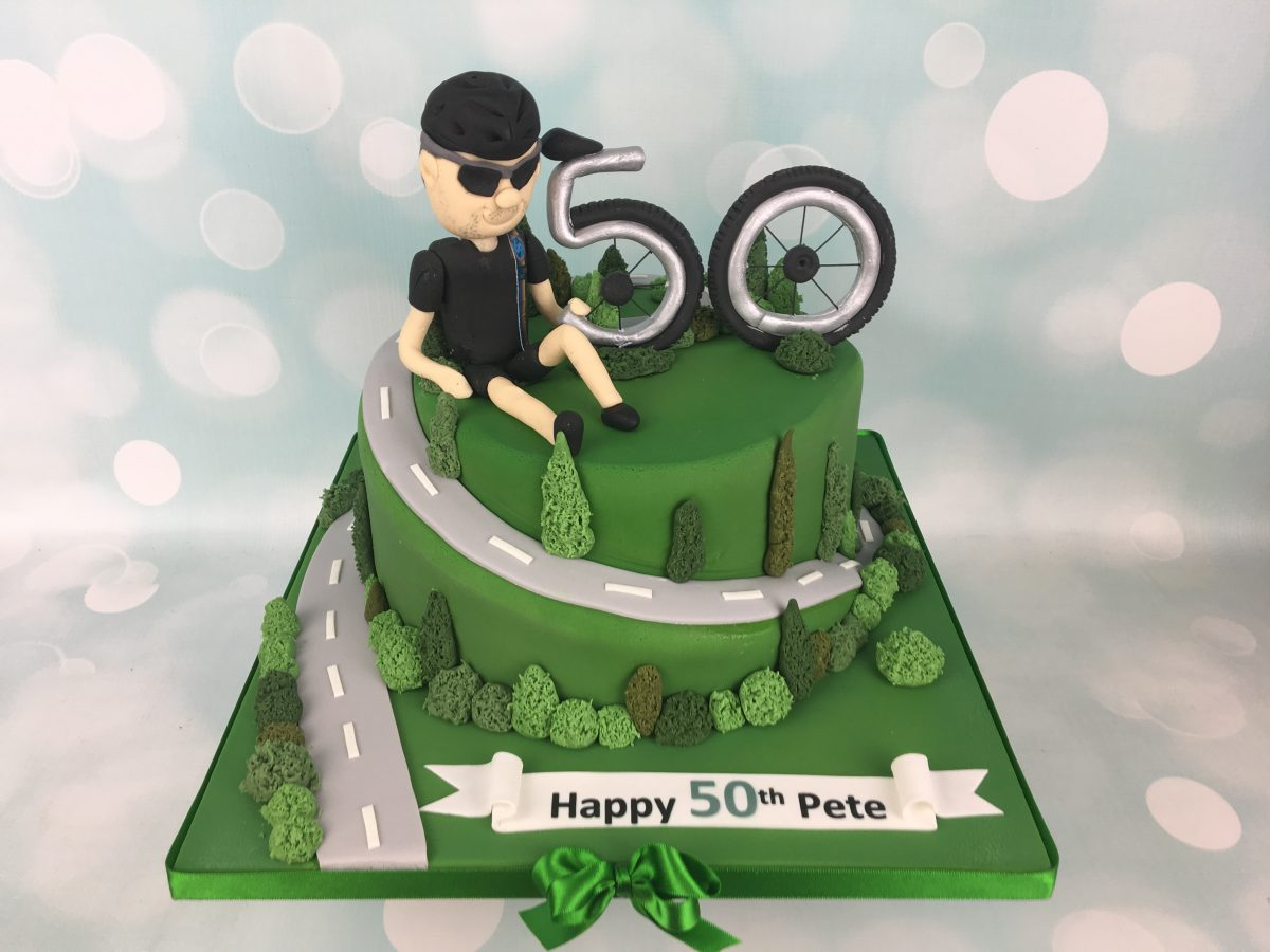 Brilliant Cycling 50Th Birthday Cake Mels Amazing Cakes Personalised Birthday Cards Cominlily Jamesorg