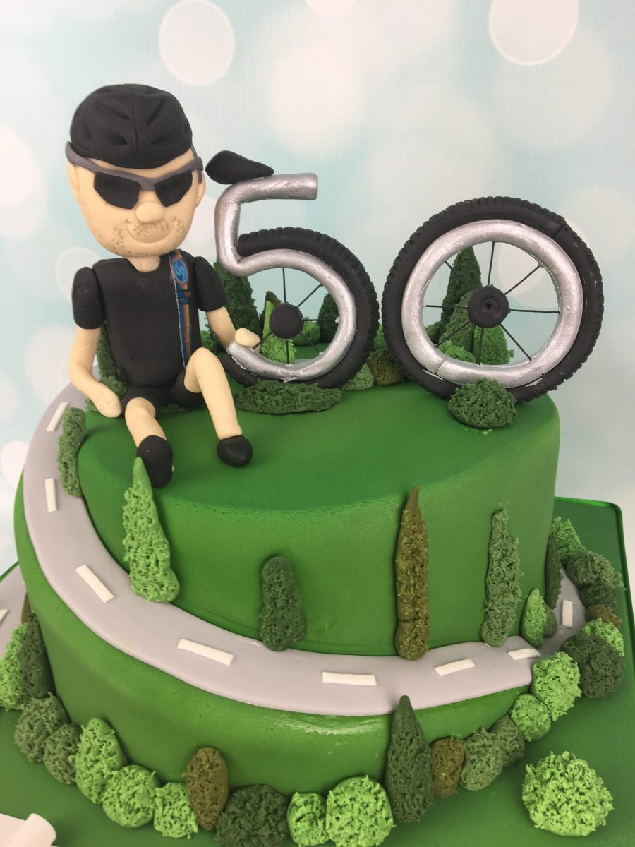 Phenomenal Cycling 50Th Birthday Cake Mels Amazing Cakes Funny Birthday Cards Online Overcheapnameinfo