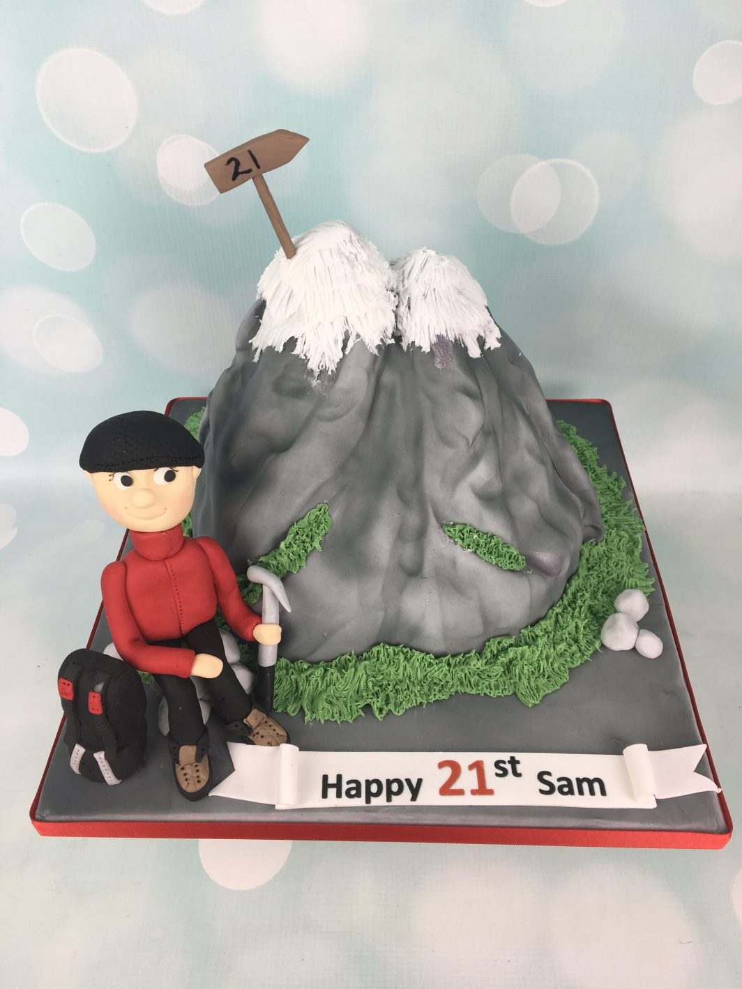 3d mountain cake