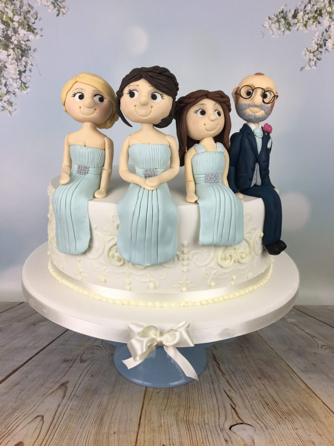 Bridal party figures