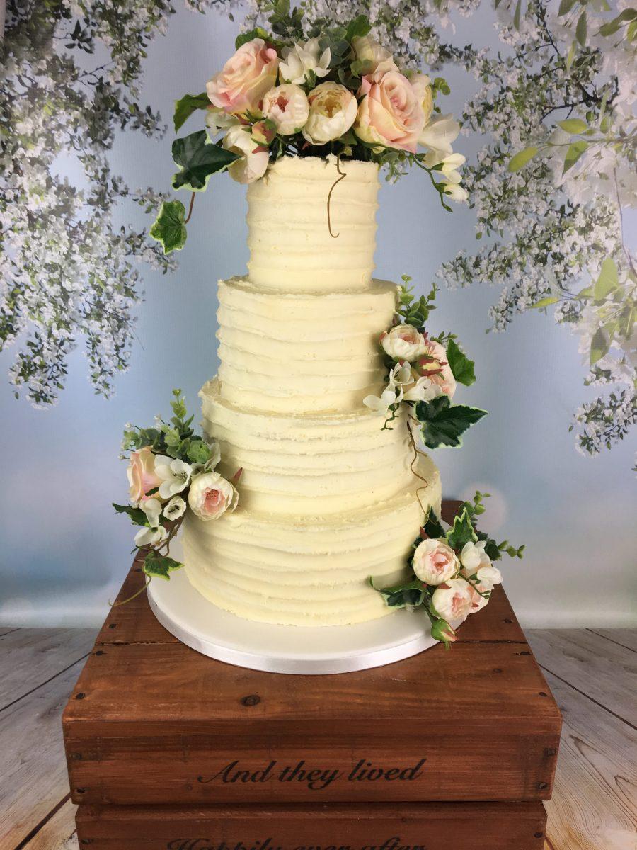 Rustic Buttercream Wedding Cake - Mel\'s Amazing Cakes