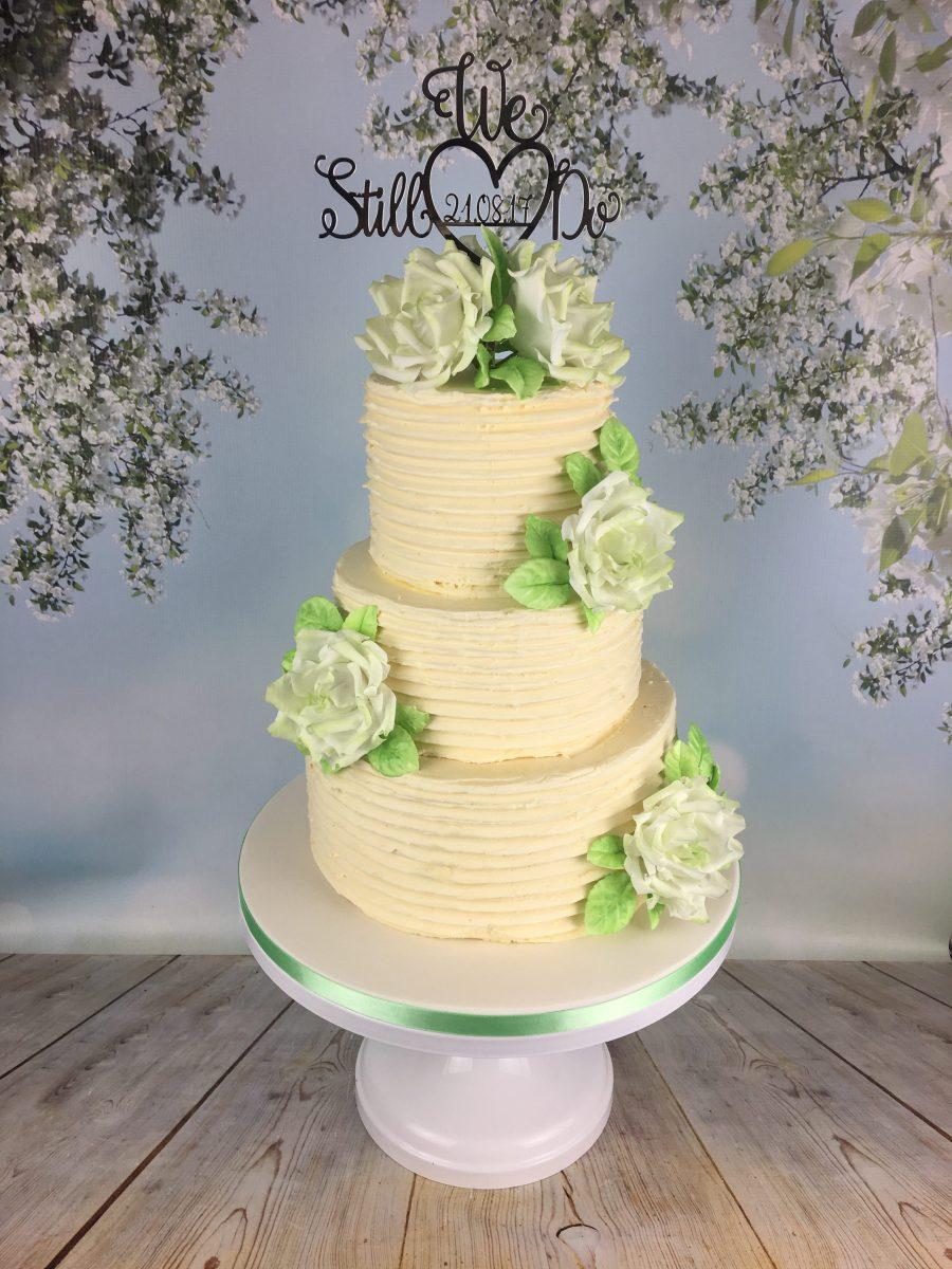 Rustic Buttercream Wedding Vow Renewal Cake - Mel\'s Amazing Cakes
