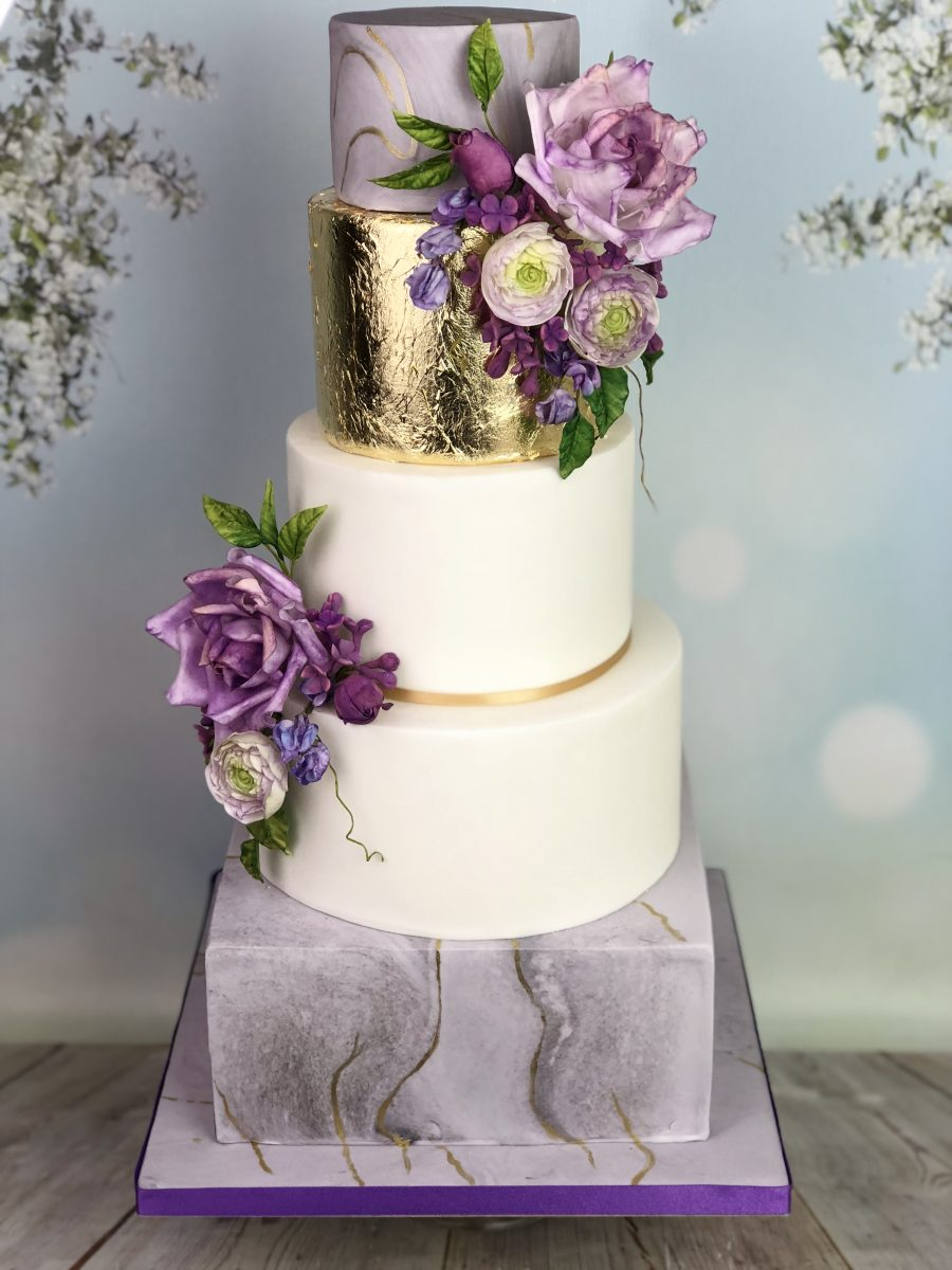 marble wedding cakes wedding cake marble effect with sugar flowers mel s 17120