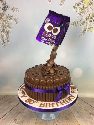 Choc Button Cake