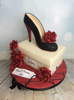 Shoe cake and Box