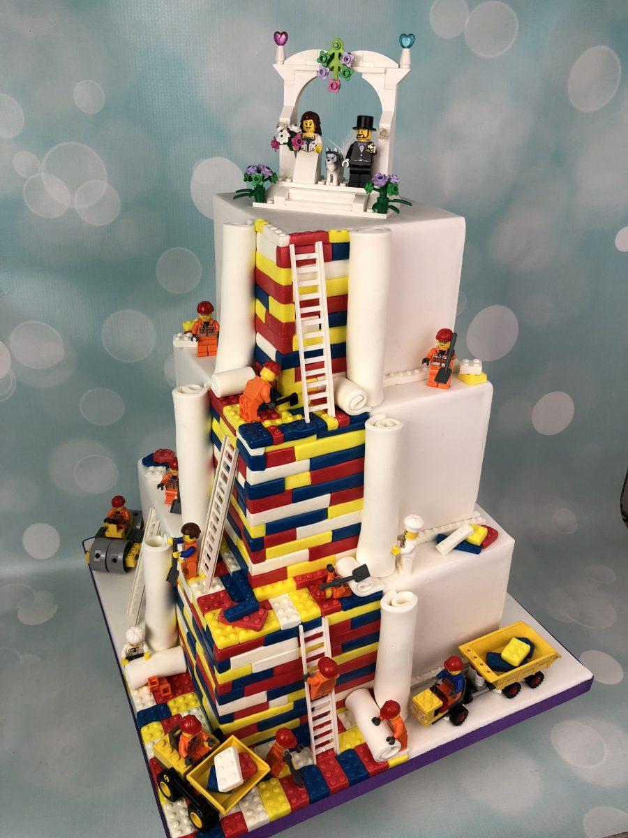 Three Tier Lego Wedding Cake Mel S Amazing Cakes