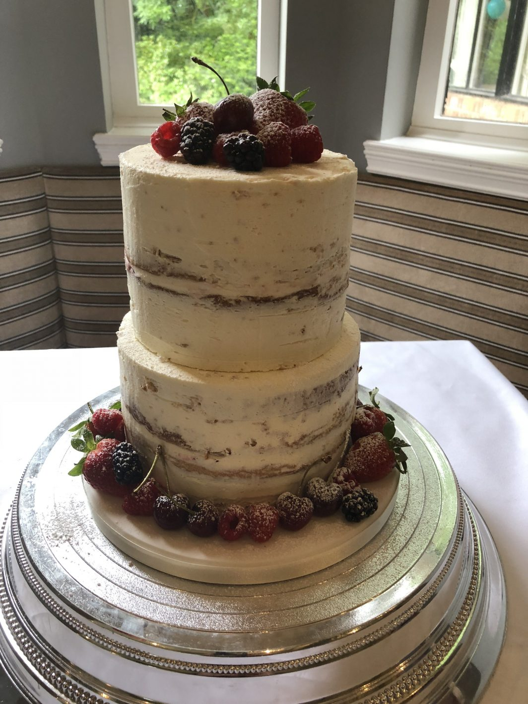 Fresh Fruit Wedding Cake