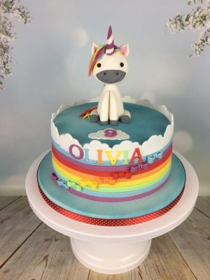 Cake with unicorn figure