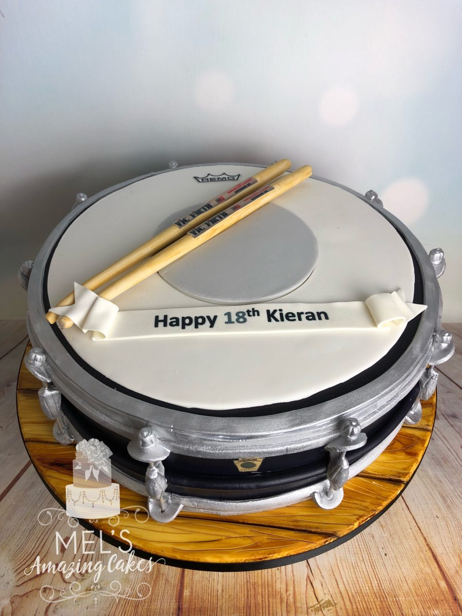 Magnificent Drum Birthday Cake Mels Amazing Cakes Funny Birthday Cards Online Aboleapandamsfinfo